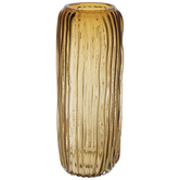 Rust Ridged Glass Vase