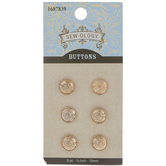 Gold Crest Metal Shank Buttons - 10mm
