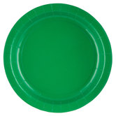 Holiday Green Paper Plates - Large