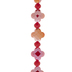 Pink Faceted Flower Bead Strand