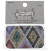 Quilt Pattern Magnetic Pin Tin