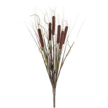 Brown Cattail & Onion Grass Bush