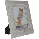 """White Distressed Crackle Wood Frame - 5"""" x 7"""""""