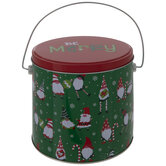 Be Merry Gnomes Metal Bucket