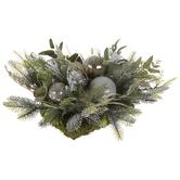 Pine & Metallic Ornament Topper