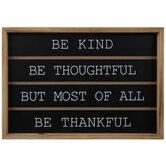 Be Kind Be Thankful Wood Wall Decor
