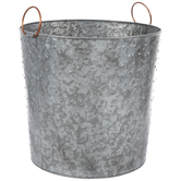 Hobnail Galvanized Metal Planter