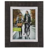 """Black & White Rustic Wood Wall Frame - 8"""" x 10"""""""