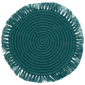 Teal Coiled Jute Plate Charger