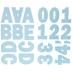 Pastel Blue Franklin Uppercase Alphabet Stickers