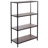 Black Four-Tier Baker's Rack Shelf