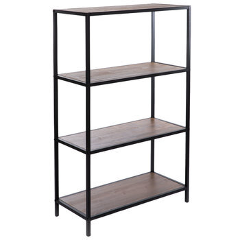 Black Four-Tier Baker's Rack Shelf