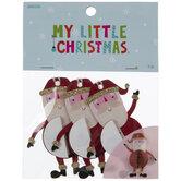Mini Honeycomb Santa Ornaments