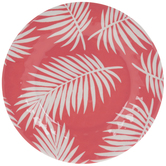 Pink Palm Leaves Plate - Small