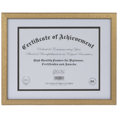 "Gold Textured Document Frame - 11"" x 8 1/2"""