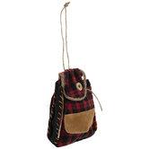 Buffalo Check Backpack Ornament