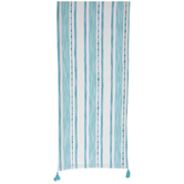Blue & White Striped Embroidered Table Runner