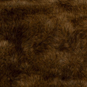 Brown Long Pile Faux Fur Fabric