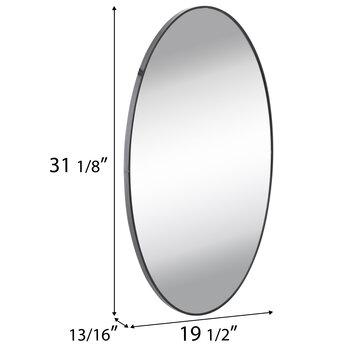 Matte Oval Metal Wall Mirror