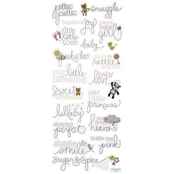Handwritten Baby Girl Stickers