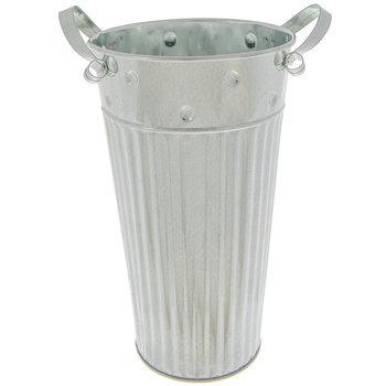 Corrugated Metal Vase