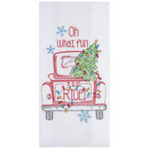 Oh What Fun Christmas Kitchen Towel
