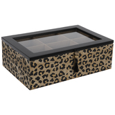 Leopard Print Wood Box