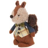 Red Brown Dapper Squirrel Plush