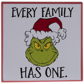 Dr. Seuss Every Family Grinch Wood Wall Decor