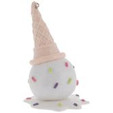 Melted Ice Cream Glitter Ornament