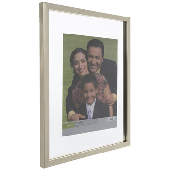 Gold Wood Float Wall Frame