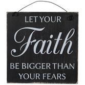 Faith Bigger Than Fears Wood Wall Decor