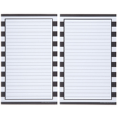 Black & White Striped Notepads