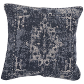 Blue & White Jacquard Pillow Cover