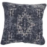 Blue & White Jacquard Pillow Cover
