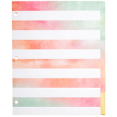 Watercolor Binder Dividers
