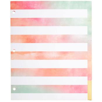 Watercolor Binder Dividers