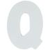 White Wood Letters Q - 2