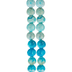 Turquoise Dyed Jasper Round Bead Strands - 4mm