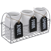 Chicken Wire Basket Cutlery Caddy