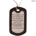 Camouflage Cross Dog Tag Necklace