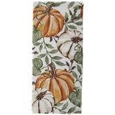 Pumpkin & Leaves Kitchen Towel