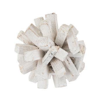 White Driftwood Decorative Sphere