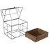 Black & Brown Metal Wire Terrarium