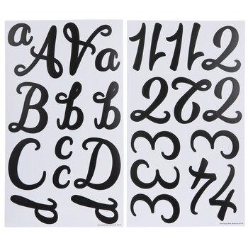 Black Script Alphabet Stickers