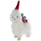 Llama With Santa Hat