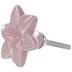 Pink Lily Flower Knob