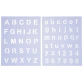 Basic Block Alphabet Stencils
