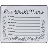 Our Week's Menu Metal Sign