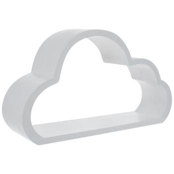 White Cloud Wood Wall Shelf